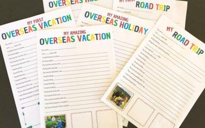 Kids Travel Journal Printables FREE