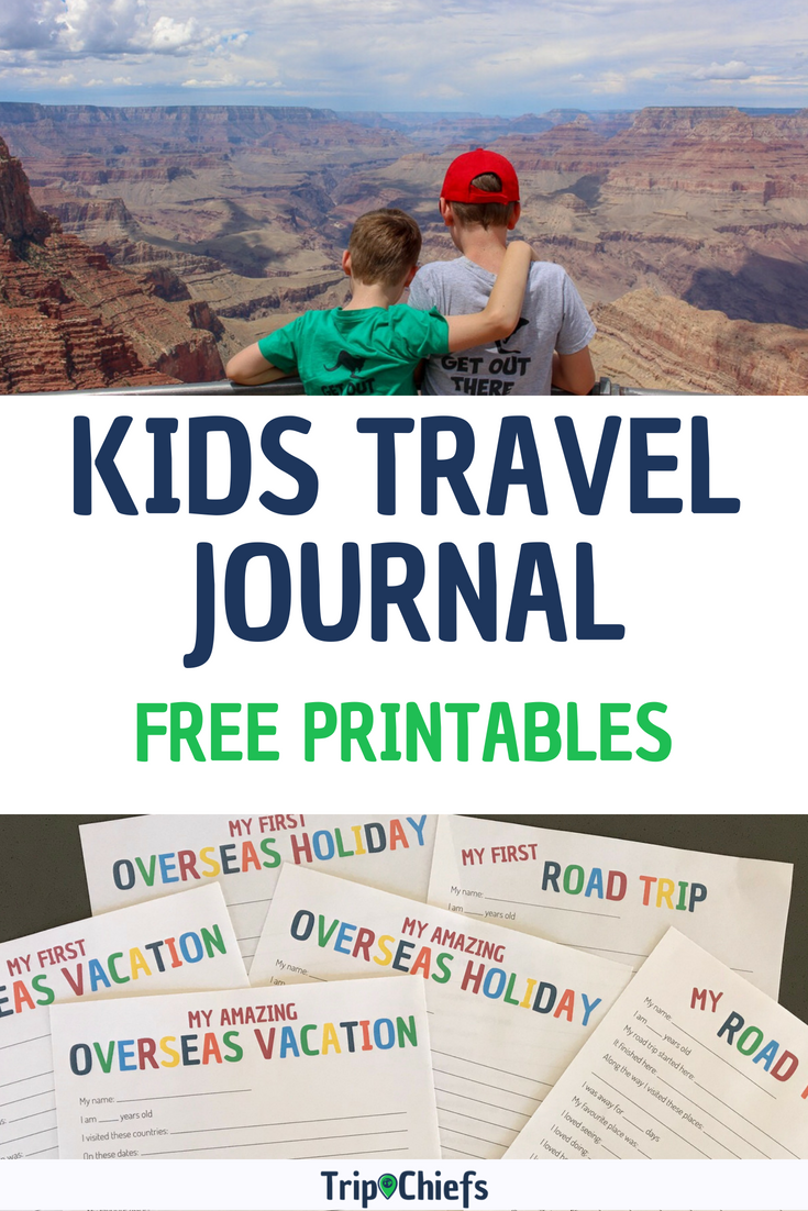 graphic regarding Travel Journal Template Printable identified as Declare your Youngsters Drive Magazine Printable these days - Holiday Chiefs