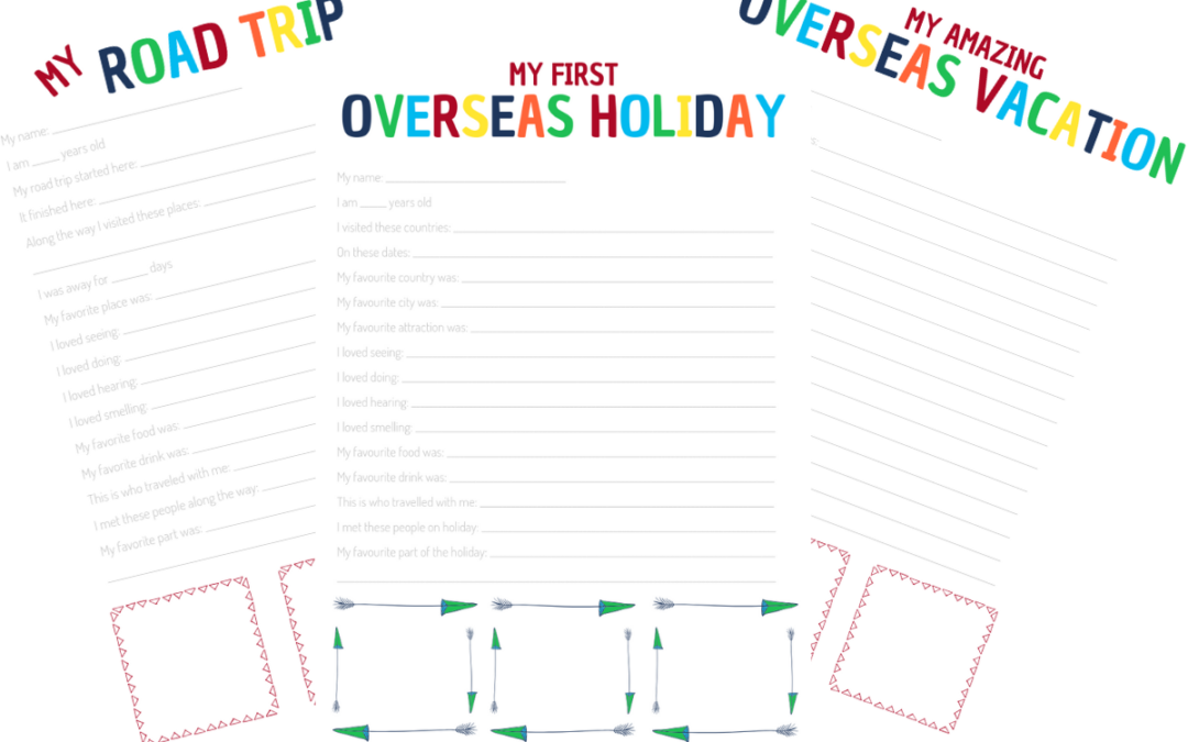 photo relating to Printable Journal Templates known as Declare your Children Push Magazine Printable at present - Holiday Chiefs