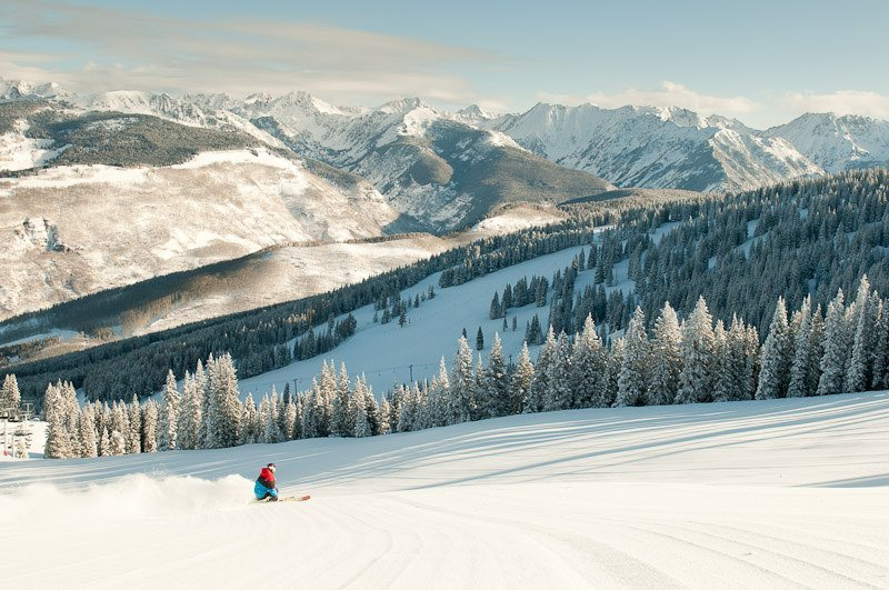 Vail Colorado best place for a White Christmas in USA
