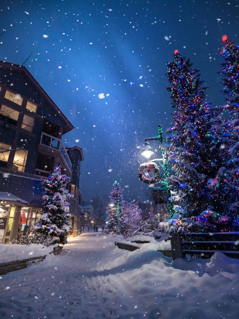 Whistler best destinations for White Christmas in Canada