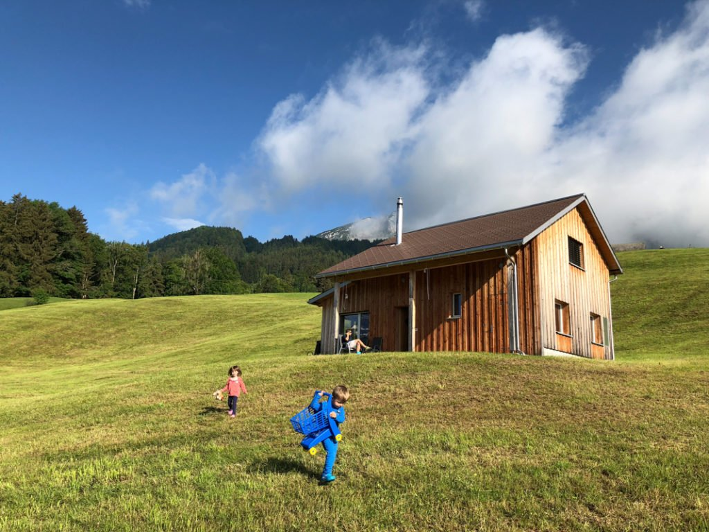Airbnb Swiss Alps family with kids