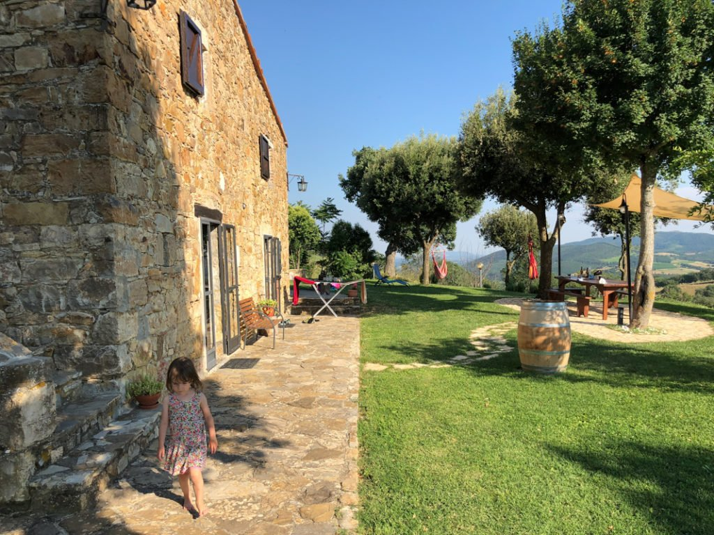 Family Villa Airbnb Tuscany Italy with kids