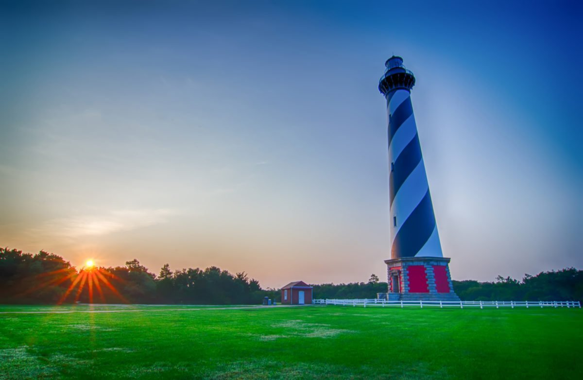 Lighthouses on the Outer Banks with kids