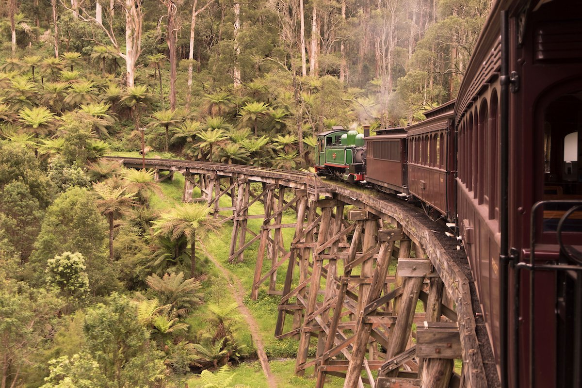 Things to do in Australia with kids steam train Dandenong's